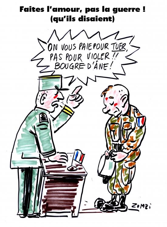 webzine,bd,zébra,gratuit,fanzine,bande-dessinée,caricature,armée française,viol,colonialisme,centrafrique,dessin,presse,satirique,editorial cartoon,zombi