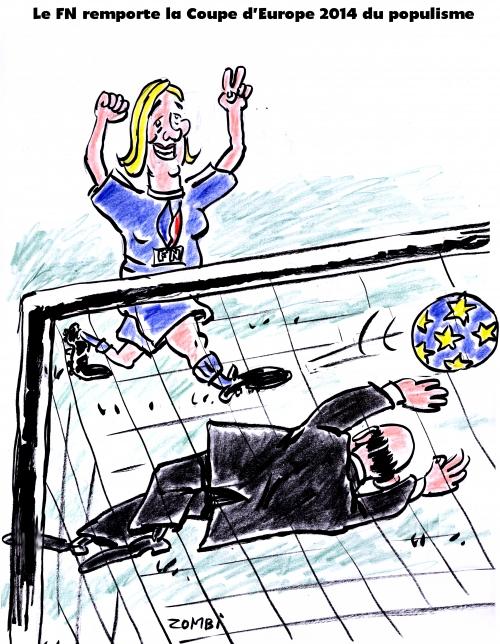 webzine,zébra,bd,gratuit,fanzine,bande-dessinée,satirique,caricature,marine le pen,européennes,2014,populisme,europe,dessin,presse,editorial cartoon,zombi