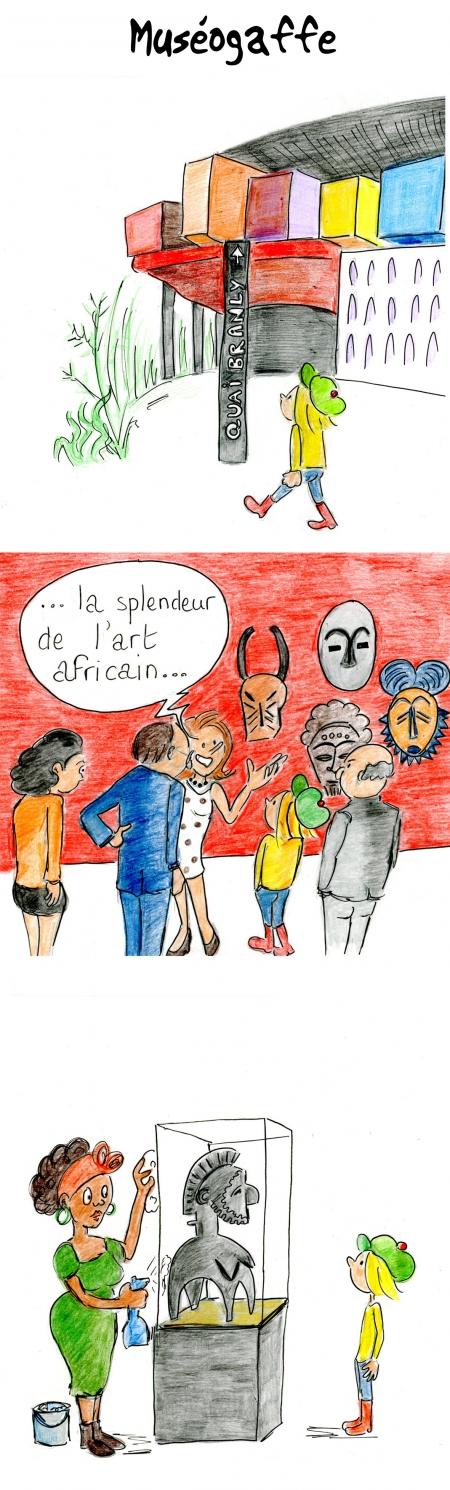 webzine,bd,gratuit,zébra,bande-dessinée,fanzine,strip,lola,aurélie dekeyser,musée,afrique,arts premiers,humour,gag