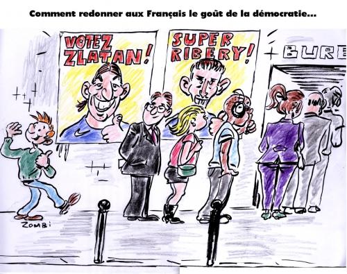 webzine,gratuit,zébra,bd,fanzine,bande-dessinée,satirique,caricature,élections municipales,zlatan,ribéry,2014,dessin,presse,editorial cartoon,zombi,démocratie