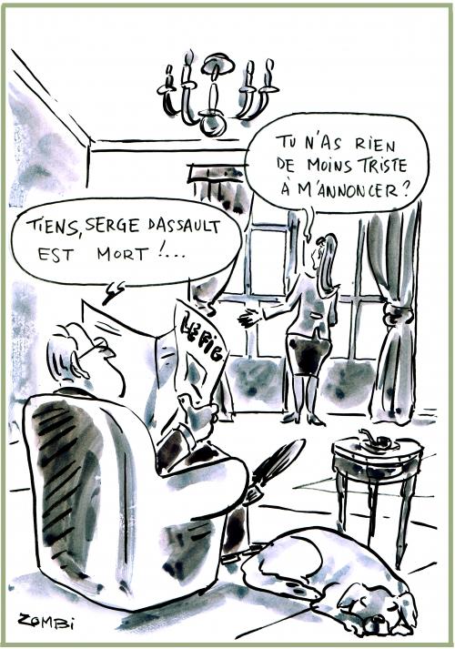 webzine,bd,zébra,gratuit,fanzine,bande-dessinée,caricature,serge dassault,mort,figaro,décès,dessin,presse,satirique,editorial cartoon,zombi