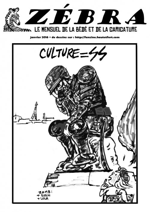 webzine,bd,zébra,gratuit,fanzine,bande-dessinée,mensuel,janvier 2016,décembre,revue de presse,caricature,dessin,presse,enigmatique LB,issuu.com