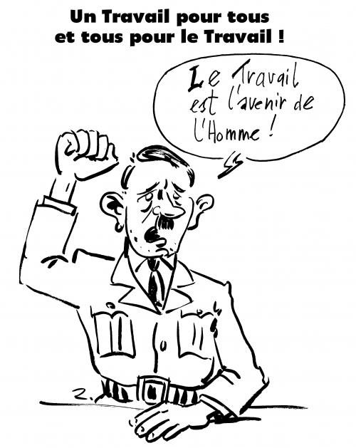 webzine,zébra,bd,fanzine,gratuit,bande-dessinée,caricature,hitler,travail,1er mai,dessin,presse,satirique,zombi,libéralisme,editorial cartoon