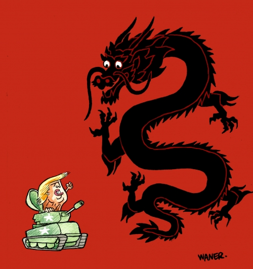 webzine,bd,zébra,gratuit,fanzine,bande-dessinée,caricature,donald trump,chine,yen,guerre,waner,dessin,presse,satirique,editorial cartoon