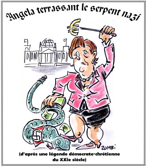 webzine,bd,zébra,fanzine,gratuit,bande-dessinée,caricature,karikatur,angela merkel,nazi,bundestag,victoire,démocrate-chrétien,dessin,presse,satirique,editorial cartoon,zombi