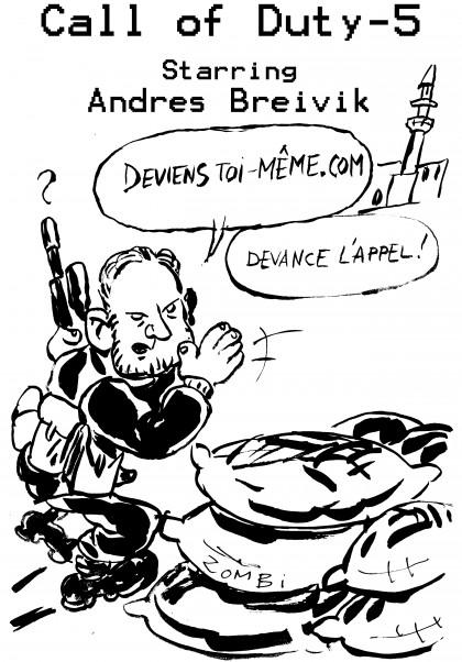 caricature,fanzine,zébra,bd,zombi,anders breivik,bande-dessinée,call of duty,jeu vidéo