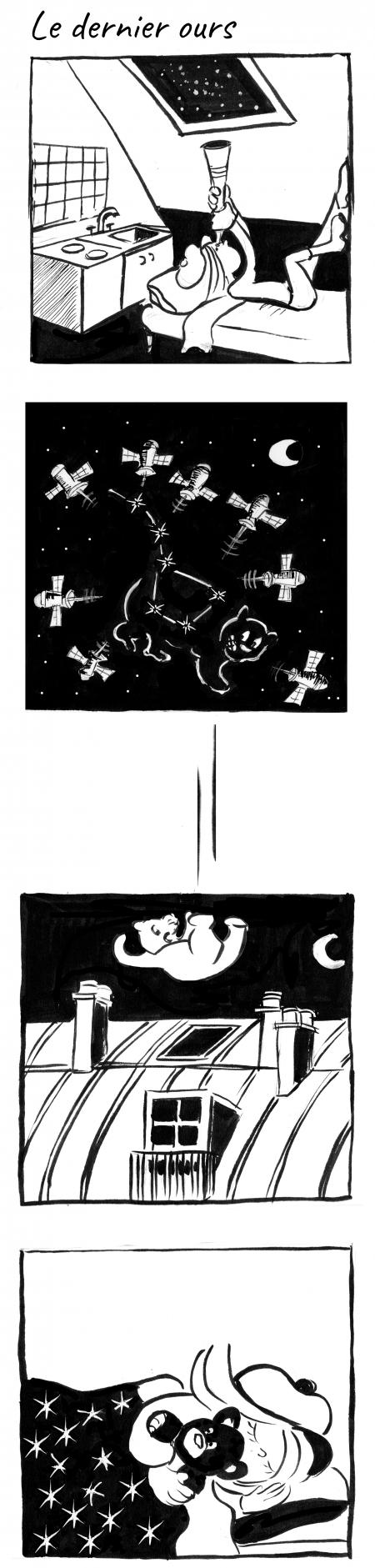 webzine,bd,gratuit,zébra,bande-dessinée,fanzine,strip,lola,aurélie dekeyser,constellation,nuit,lunette,petite ourse,paris