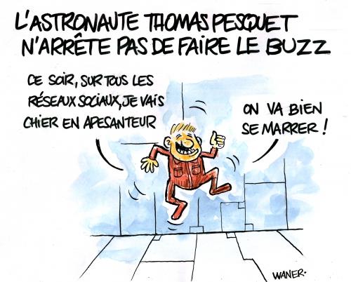 webzine,bd,zébra,gratuit,fanzine,bande-dessinée,caricature,thomas pesquet,astronaute,buzz,waner,dessin,presse,satirique,editorial cartoon