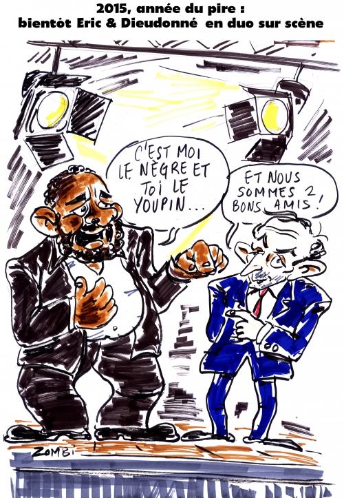 webzine,bd,zébra,gratuit,fanzine,bande-dessinée,caricature,dieudonné,éric zemmour,duo,dessin,presse,2015,satirique,editorial cartoon,zombi