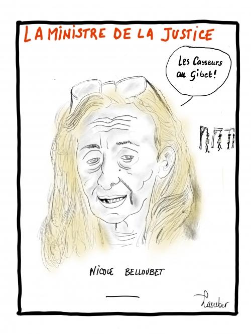 webzine,bd,zébra,gratuit,fanzine,bande-dessinée,caricature,nicole belloubet,garde,sceaux,#giletsjaunes,gilets jaunes,dessin,presse,satirique,laouber