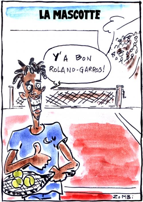 webzine,bd,zébra,gratuit,fanzine,bande-dessinée,caricature,gaël monfils,mascotte,tennis,roland-garros,dessin,presse,satirique,editorial cartoon,zombi