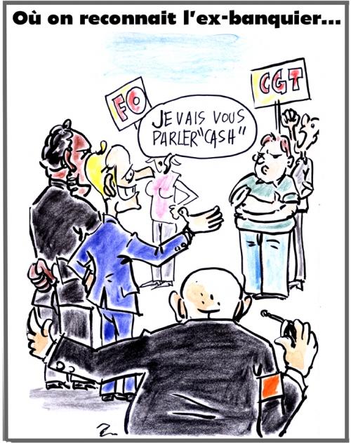 webzine,bd,zébra,gratuit,fanzine,bande-dessinée,caricature,emmanuel macron,syndicats,franc parler,ex-banquier,dessin,presse,satirique,editorial cartoon,zombi