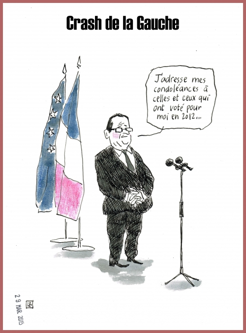 webzine,zébra,bd,fanzine,gratuit,bande-dessinée,caricature,françois hollande,crash,ps,élections départementales,lb,editorial cartoon,dessin,presse,satirique