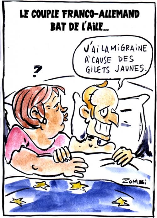 webzine,bd,zébra,gratuit,fanzine,bande-dessinée,caricature,angela merkel,emmanuel macron,franco-allemand,allemagne,couple,europe,dessin,presse,satirique,editorial cartoon,zombi