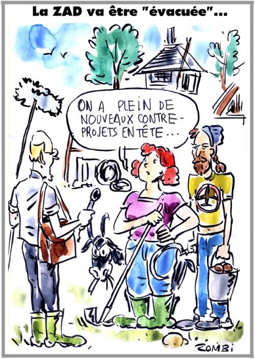 webzine,bd,zébra,gartuit,fanzine,bande-dessinée,caricature,zad,évacuation,notre-dame des landes,dessin,presse,satirique,editorial cartoon,zombi