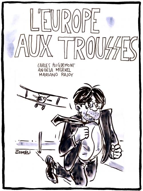 webzine,bd,gratuit,zébra,fanzine,bande-dessinée,caricature,carles puigdemont,mort aux trousses,europe,arrestation,nationalisme,dessin,presse,satirique,editorial cartoon,zombi