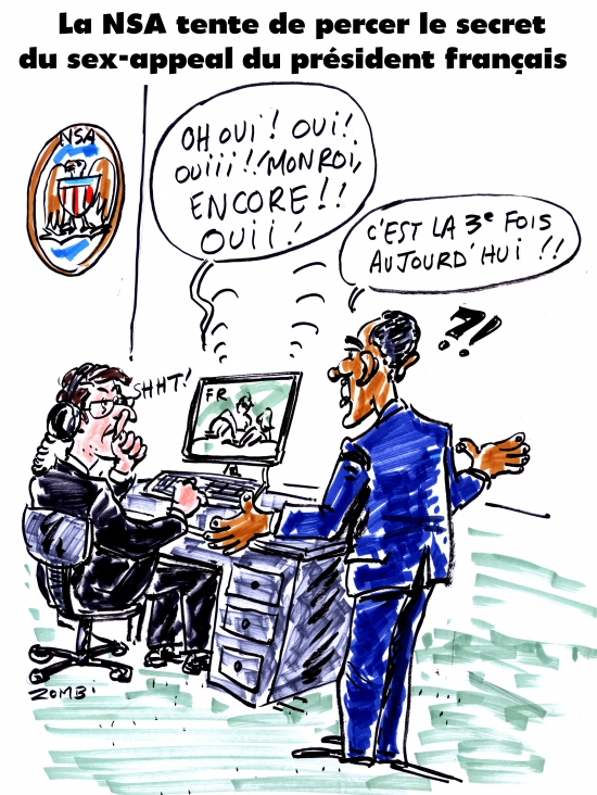 webzine,bd,gratuit,zébra,fanzine,bande-dessinée,caricature,nsa,espionnage,françois hollande,obama,usa,sex appeal,dessin,presse,satirique,zombi,editorial cartoon