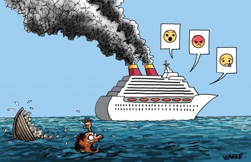 webzine,bd,gratuit,zébra,fanzine,bande dessinée,caricature,migrants,croisière,waner,dessin,presse,satirique,editorial cartoon