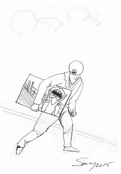 webzine,bd,zébra,gratuit,bande-dessinée,michel soucy,dessin,kidnapping,munch