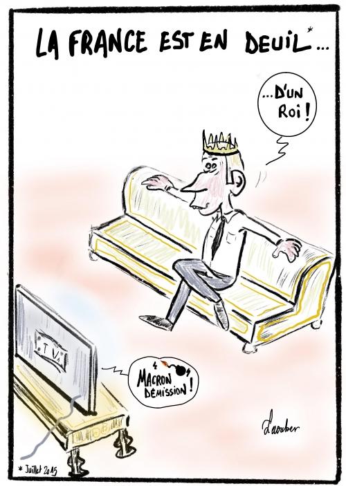 webzine,bd,gratuit,fanzine,zébra,bande-dessinée,caricature,emmanuel macron,roi,monarque,dessin,presse,satirique,laouber,editorial cartoon
