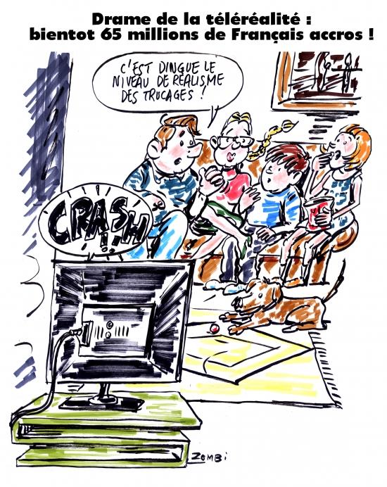 webzine,gratuit,zébra,bd,fanzine,bande-dessinée,caricature,téléréalité,dropped,français,télévision,dessin,presse,satirique,editorial cartoon,zombi