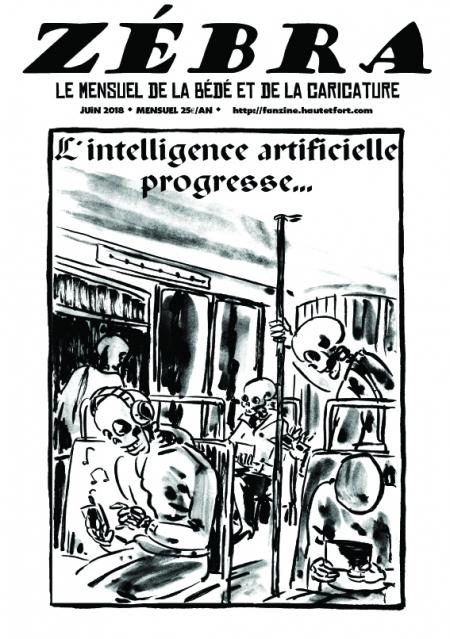 webzine,bd,gratuit,zébra,fanzine,bande-dessinée,pdf,mensuel,caricature,énigmatique lb,zombi,adéka,juin,2018,dessin,presse,satirique