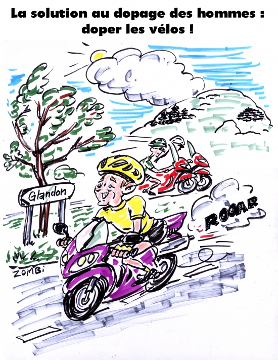 webzine,bd,gratuit,zébra,fanzine,bande-dessinée,caricature,tour de france,christopher froome,dopage,vélo,dessin,presse,satirique,editorial cartoon,zombi