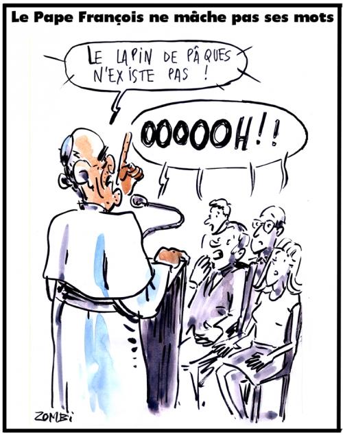webzine,bd,zébra,gratuit,fanzine,bande-dessinée,caricature,pape,françois,bergoglio,sermon,dessin,presse,satirique,editorial cartoon,zombi