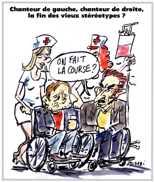 webzine,bd,zébra,fanzine,gratuit,bande-dessinée,caricature,renaud,johnny hallyday,droite,gauche,clivage,stéréotype,chanteur,dessin,presse,satirique,editorial cartoon,zombi