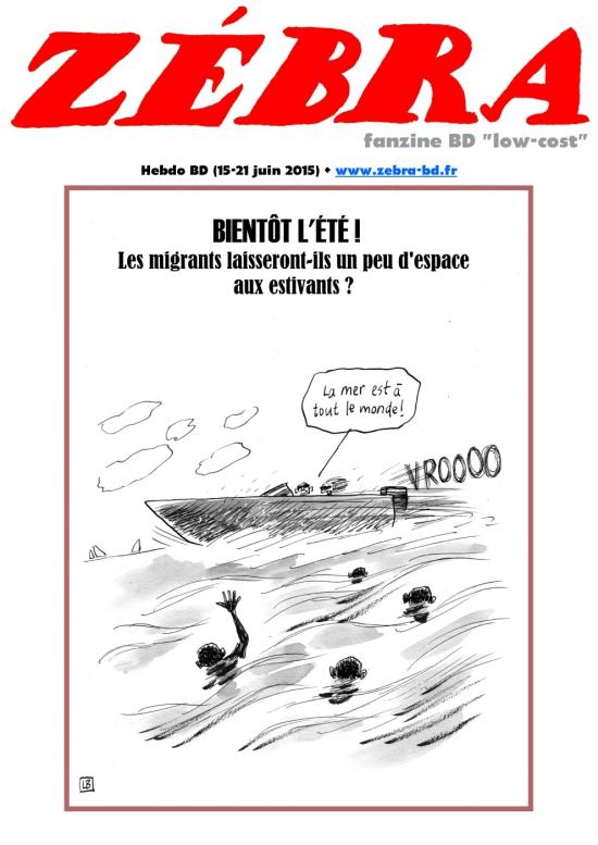 webzine,bd,gratuit,fanzine,zébra,bande-dessinée,revue de presse,actualité,hebdomadaire,dessin,presse,caricature,migrants,issuu.com,pdf,lien hypertexte