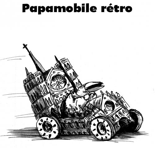webzine,bd,gratuit,zébra,fanzine,bande-dessinée,satirique,burlingue,papamobile,cathédrale,dessin,encre