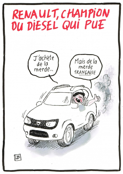 webzine,bd,zébra,fanzine,gratuit,bande-dessinée,caricature,renault,diesel,pollution,auto,salon,dessin,presse,lb,satirique,editorial cartoon