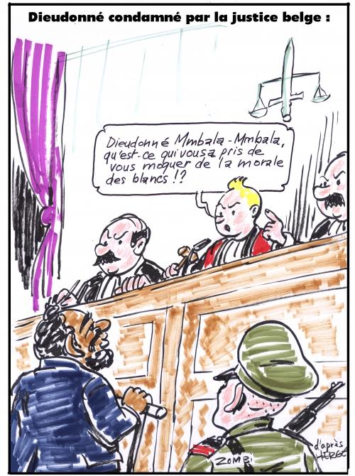 webzine,bd,zébra,gratuit,bande-dessinée,fanzine,caricature,dieudonné,mbala-mbala,justice,belge,tintin,procès,antisémitisme