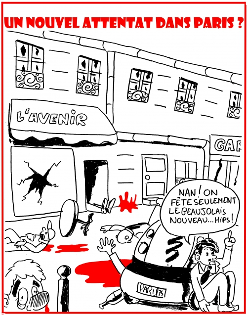 webzine,bd,zébra,fanzine,gratuit,bande-dessinée,caricature,beaujolais,fête,attentat,paris,dessin,presse,caricature,satirique,editorial cartoon