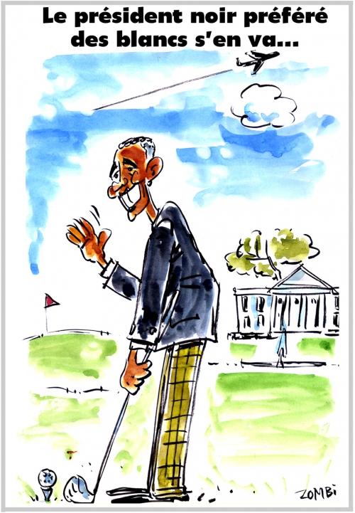 webzine,bd,zébra,gratuit,fanzine,bande-dessinée,caricature,barack obama,maison blanche,dessin,presse,satirique,editorial cartoon,zombi