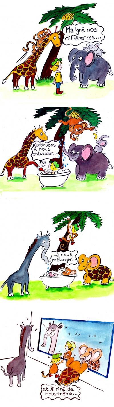 webzine,bd,gratuit,zébra,fanzine,bande-dessinée,strip,lola,compagnie dassyne,éléphant,girafe