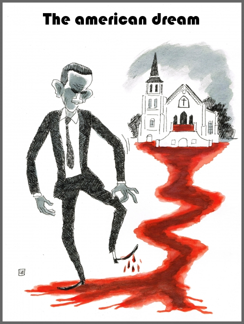 webzine,bd,zébra,fanzine,bande-dessinée,caricature,obama,attentat,charleston,dessin,presse,satirique,editorial cartoon,lb