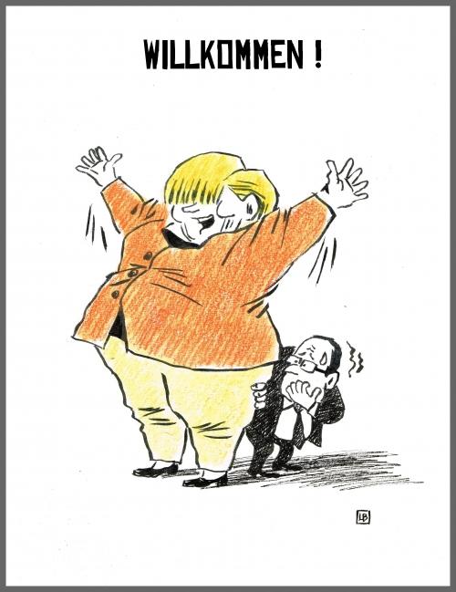 webzine,bd,zébra,fanzine,gratuit,bande-dessinée,caricature,angela merkel,wilkommen,satirique,dessin,presse,editorial cartoon,lb