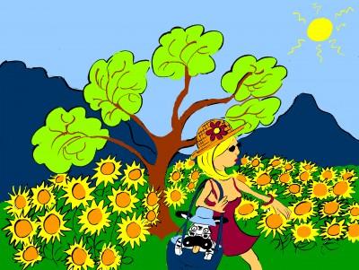 zébra,fanzine,été,tournesols,aurélie dekeyser